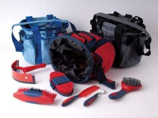 Shorefields Rhinegold Soft Touch Complete Horse Grooming Kit With Colour Co-Ordinate Brushes (Red)