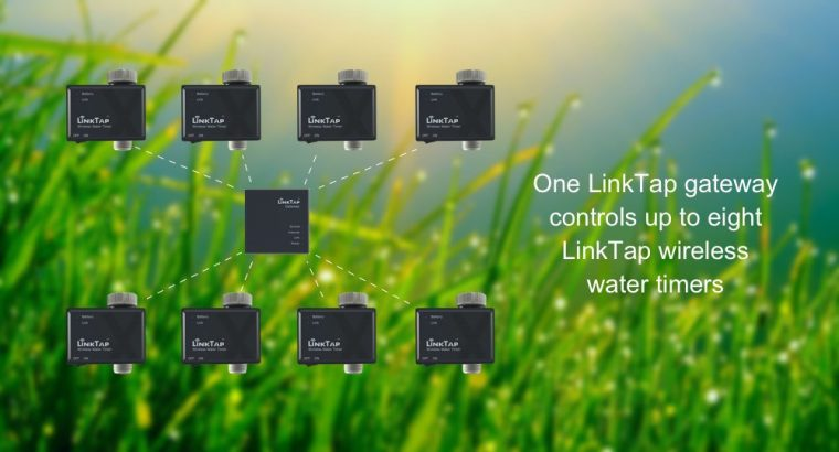 LinkTap Wireless Water Timer & Gateway, Cloud Controlled Tap Timer with Zigbee Technology, Greater Wireless Coverage than Wi-Fi, 2 Years Battery Life, Quick 2 Minutes Installation, Rain Skip