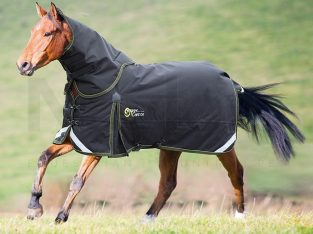 Shires StormCheeta 300g Heavyweight Detach-A-Neck Turnout Rug Black