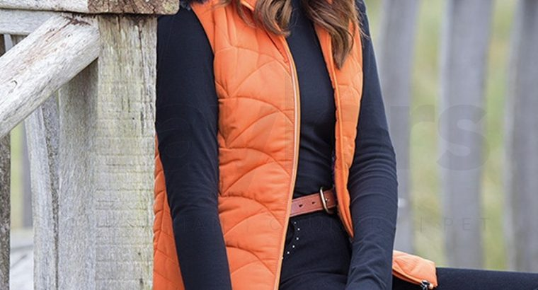 Aubrion Ladies Thistledown Padded Gilet Burnt Orange