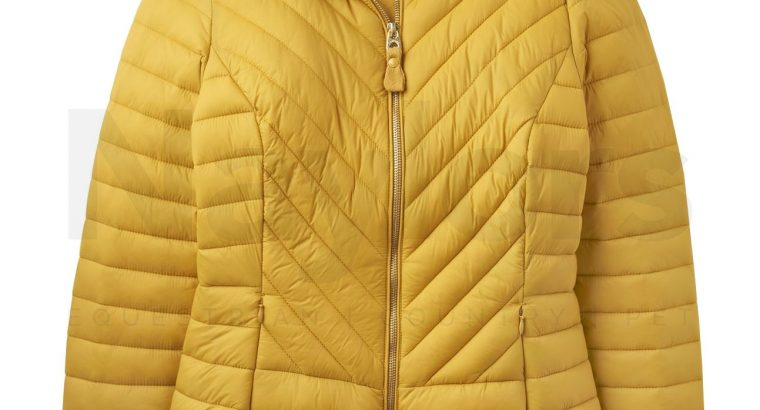 Joules Ladies Elodie Chevron Quilted Jacket Antique Gold