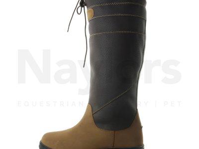 Brogini Ladies Derbyshire Fur Lined Boots Brown