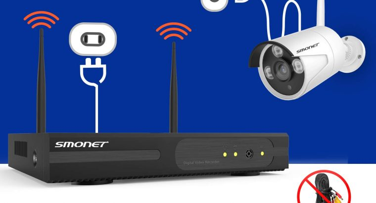 Perfect for the Yard-【2019 NEW】Wireless CCTV Camera Systems,SMONET 4CH 1080P NVR Wireless Security Camera System(1TB HDD),4pcs 1.3MP(960P) Weatherproof Bullet Cameras,Easy Remote View,Free App,Super Night Vision,P2P