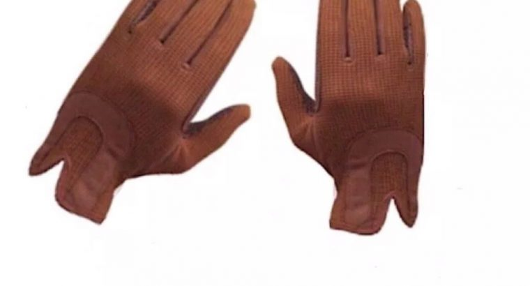 Horse Riding Gloves Ladies Dublin Track Fabric Gloves Leather