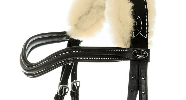 Kavalkade Ivy Anatomical Flash Snaffle Bridle with Lambskin Lining + Reins
