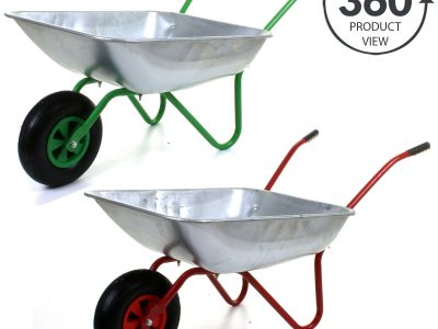 65L Metal Heavy Duty Galvanised Wheelbarrow 12